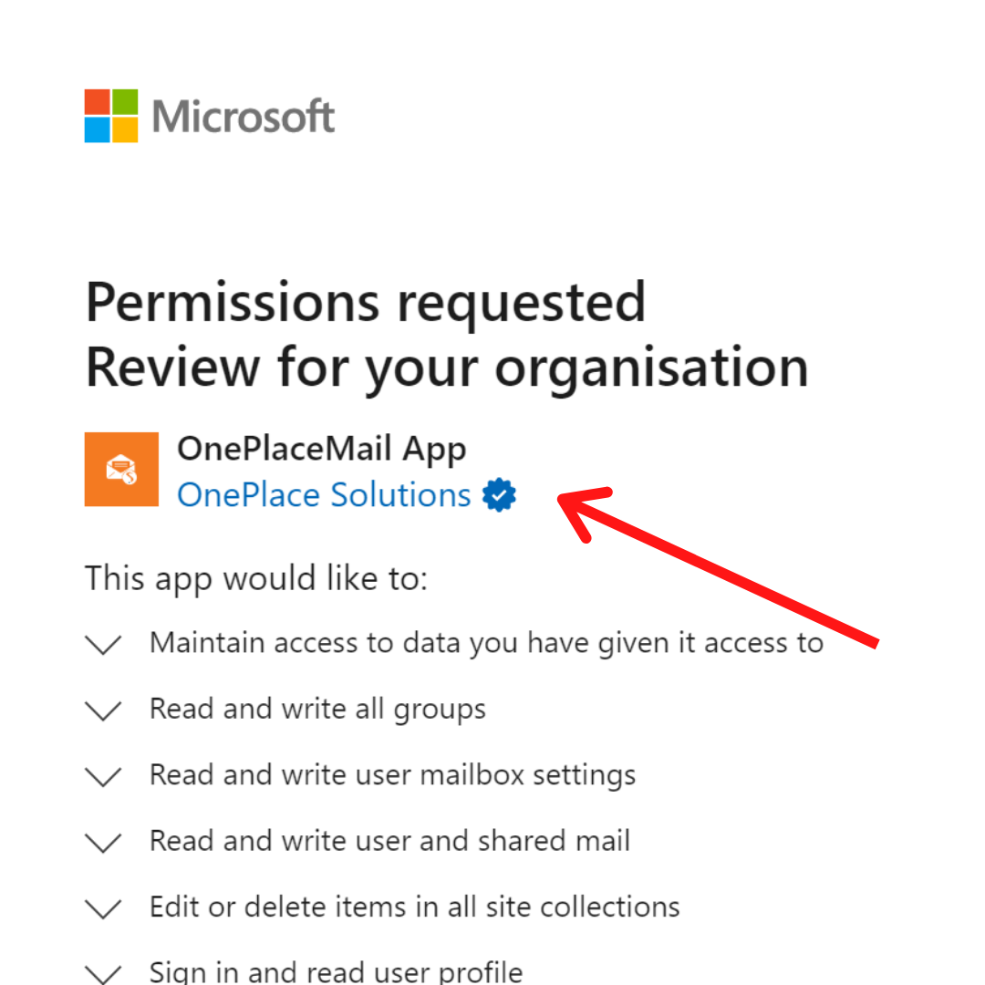 OnePlaceMail in Microsoft AppSource