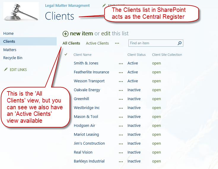 legal-matter-deep-dive-02-oneplacelive-clients-sharepoint-view
