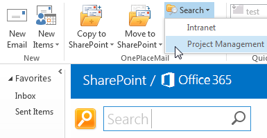 Search SharePoint from Outlook