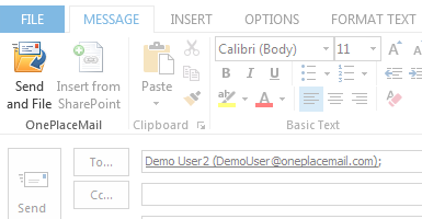 Send and save emails to SharePoint