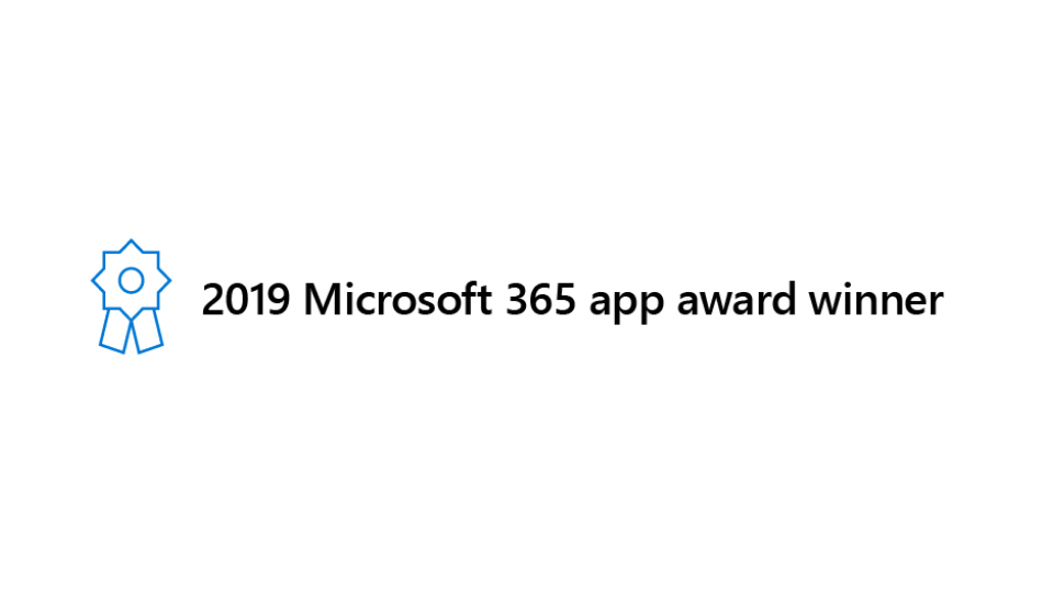 OnePlaceMail Wins Microsoft 365 App Awards - People's Choice 2019