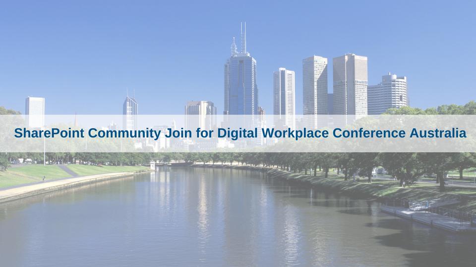 SharePoint Community Join for DWC Australia