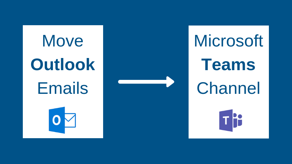 Move Outlook emails to a Microsoft Teams channel